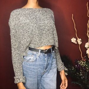 Comfy cropped knit sweater